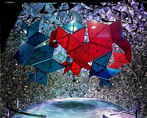 (Z)nZero di Pamela Ferri_proiezione olografica nello spazio Swarovski Kristallwelten